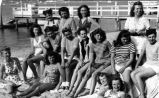 [Theta Nu Theta members at the beach]