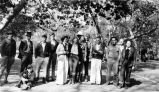 Fullerton College Geology Club Scrapbook: Geology Club members and guests at Orange County Park,...