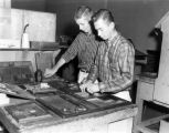 Students Working in Print Shop, 1950