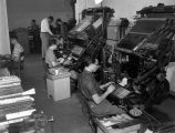 FJC Students Operating Linotype Machines